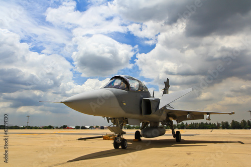 BANGKOK, THAILAND - JULY 02: F-16 of Royal Thai air force