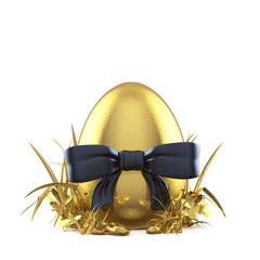 Goldenes Ei im Grase