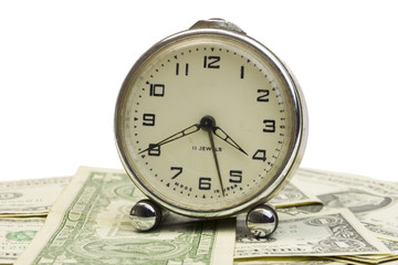 clock with money