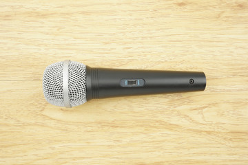 Black and silver microphone