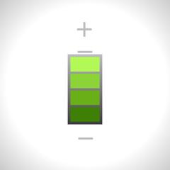 Vector green battery icon. Eps10