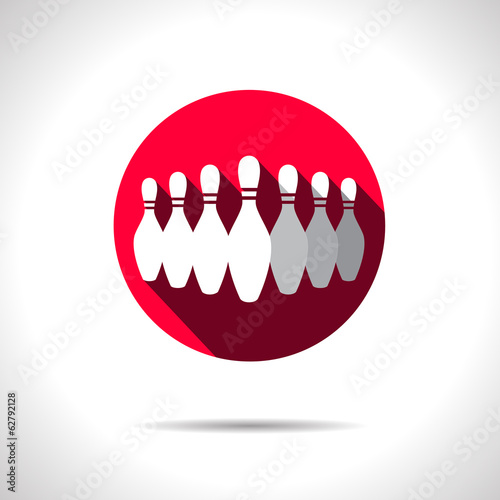 Vector skittles icon. Eps10