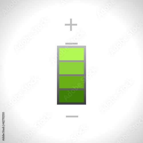 Vector green battery icon. Eps10