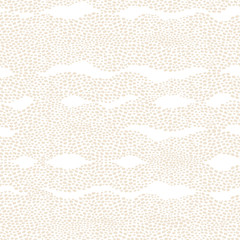 Seamless pattern with a waves from dots. Light background.
