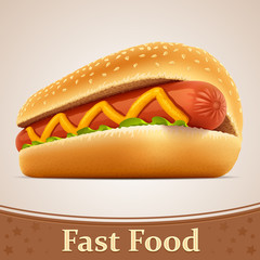 Fast food icon - Hot dog
