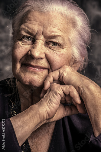 smiling elderly