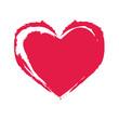 Rotes Herz gedruckt