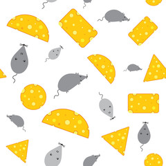 Cheese and mouse seamless texture