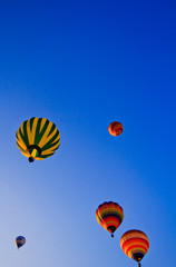 Colorful balloons on the sky
