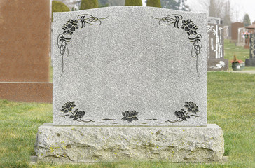 Tombstone in a Cemetery