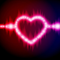 Abstract equalizer background with heart