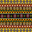 Ethnic background with floral ornaments