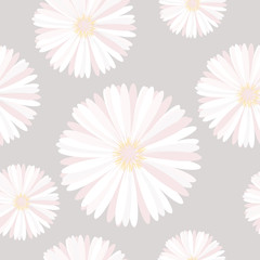 Seamless background with delicate flowers