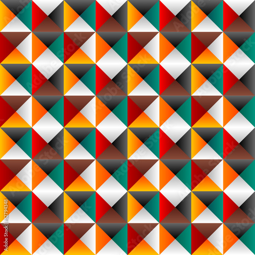 Seamless background with colored triangles