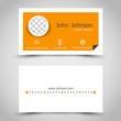 modern orange paper business card