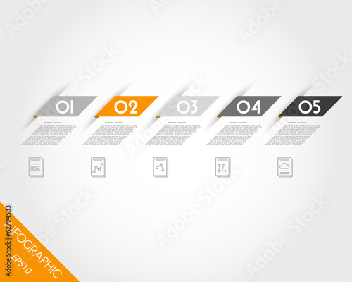 orange oblique modern paper stickers