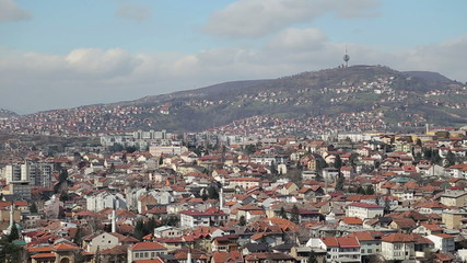 Sarajevo view on the Hum hill