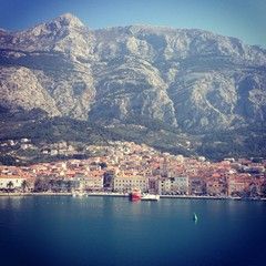 View at Makarska from sea