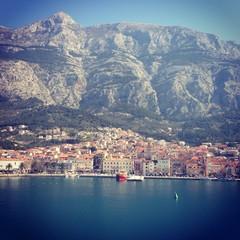 View at Makarska from sea