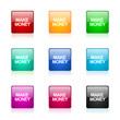 make money icon vector colorful set