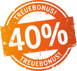 Treuebonus Button 40%