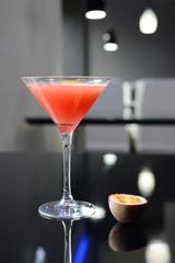 Fresh cocktail on the dark background