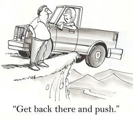 Get behind truck