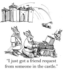 A Viking is surprised by a friend request
