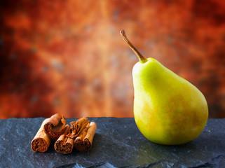 Pear and cinnamon