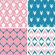 vector four abstract pink blue arrows geometric pink seamless