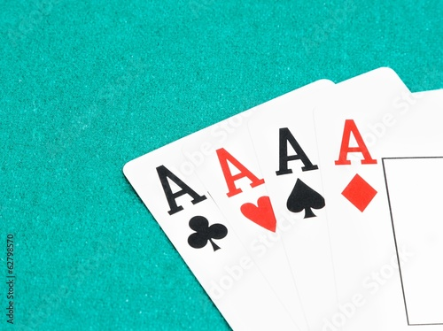 poker aces cards,  concept of poker game