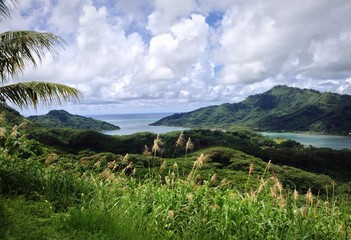 scenic view in french polynesia