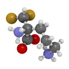 Eflornithine drug molecule. Used to treat facial hirsutism.