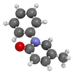 Pirfenidone idiopathic pulmonary fibrosis (IPF) drug molecule