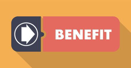 Benefit Concept on Orange in Flat Design.