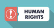 Human Rights on Blue in Flat Design.