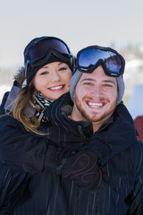 couple in snow gear