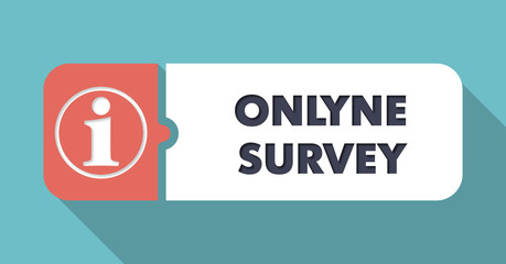 Online Survey on Blue in Flat Design.