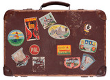 Fototapety Old leather suitcase