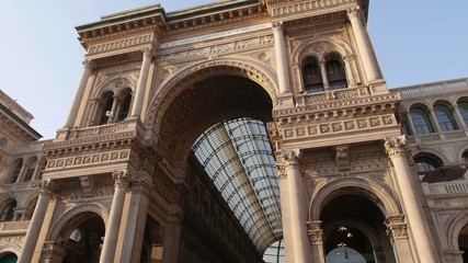 View of Milan, dome and galleria vittorio emanuele