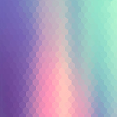 Pastels Color Flow Hexagonal Background.