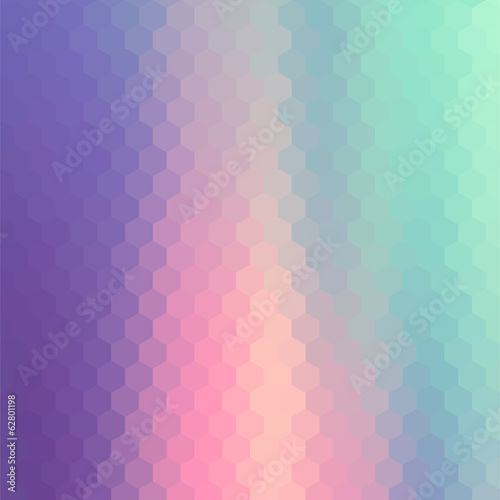 Pastels Color Flow Hexagonal Background.