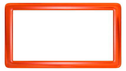 3D frame with orange color course