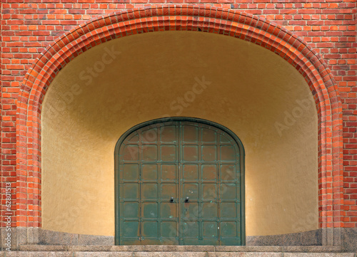 Entrance with archway
