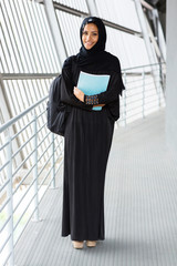 female muslim college student