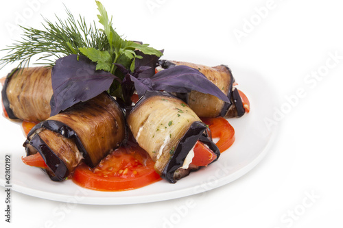 Vegetable rolls of eggplant