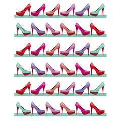 high heels fashion background