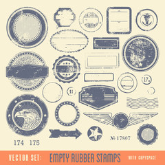 empty rubber stamps with copyspace for your text
