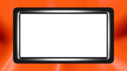 3D frame with orange moved background