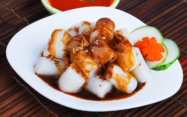 Chee Cheong Fun. rice noodle roll